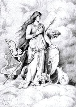 Freya Girded For War, Asatru Gods And Heroes