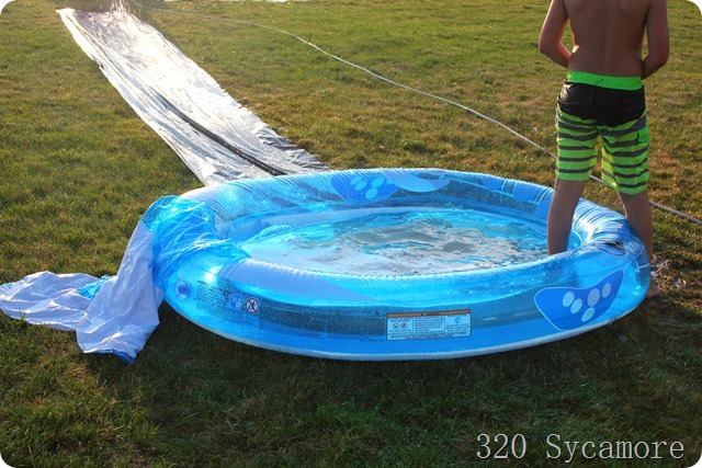 Plastic Sheeting For Landscaping : Slip slide kickball summer games sycamore