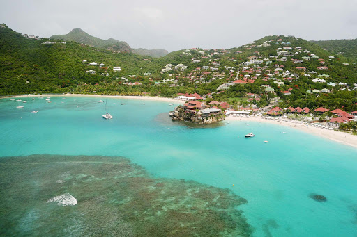 Aerial view of Eden Rock on St. Barts.