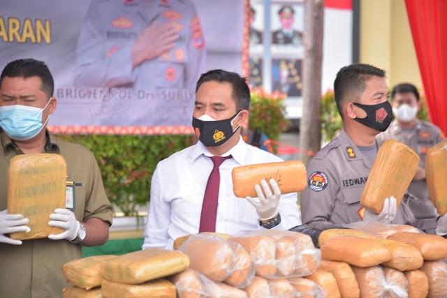 Ditnarkoba Polda Lampung Berhasil Diungkap 6 KG Sabu dan 4 KG Ganja