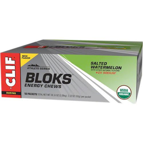 Clif Bar Shot Bloks: Salted Watermelon, Box of 18