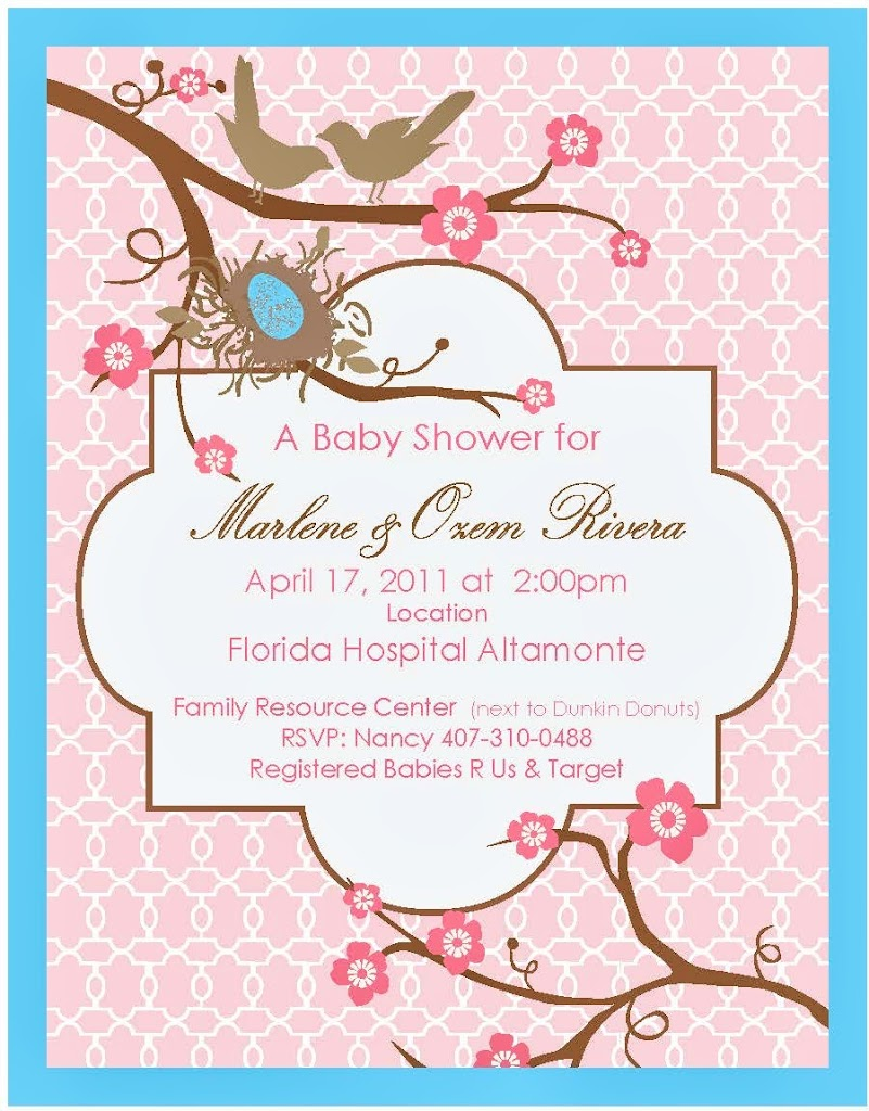 Marlene and Ozam Shower Invite