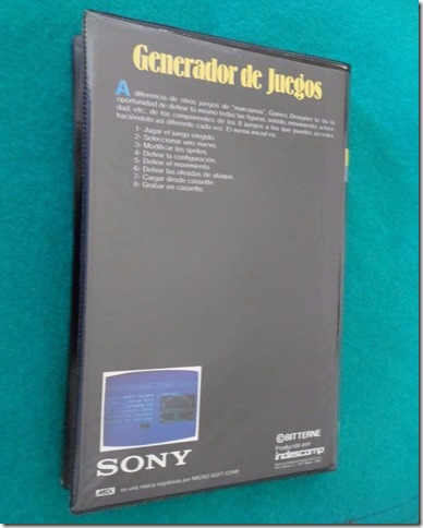 Generador de juegos MSX contraportada