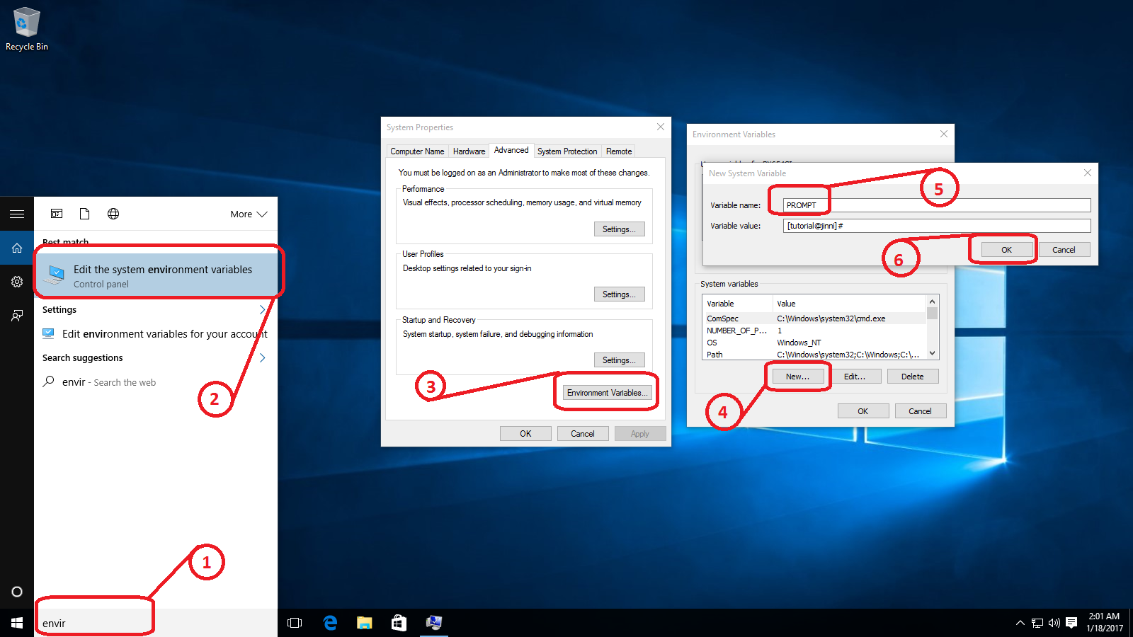 Customize Command Prompt Windows 10