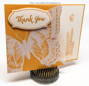 Linda Vich Creates: Catalog Party Prep Part 1. Fussy cut swallowtail butterfly cards in each of the five 2016-2018 In Colors.