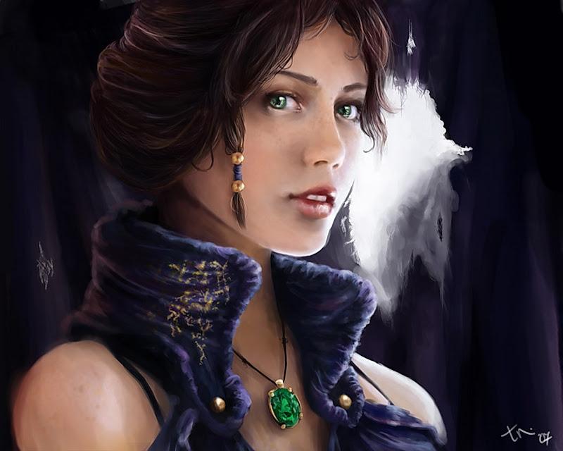 Green Eyes Of Beautiful Lady, Fairies 1