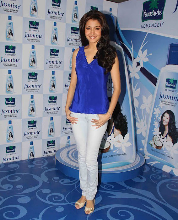 anushka sharma launches parachute jasmine hair oil hot photoshoot