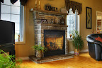 Wiarton Brown and Grey Fireplace
