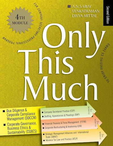 CS Profeesional Programme OTM Module 4 book