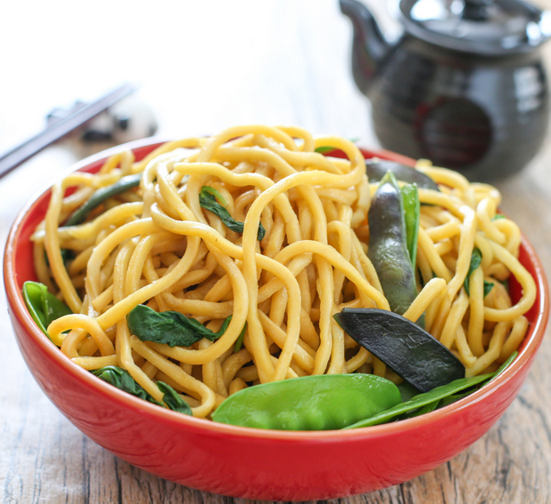 close-up photo of a bowl of Chinese noodles