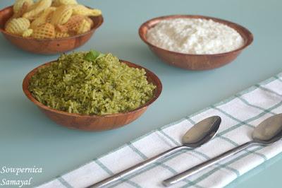 Corriander Rice (Kothamalli Rice)