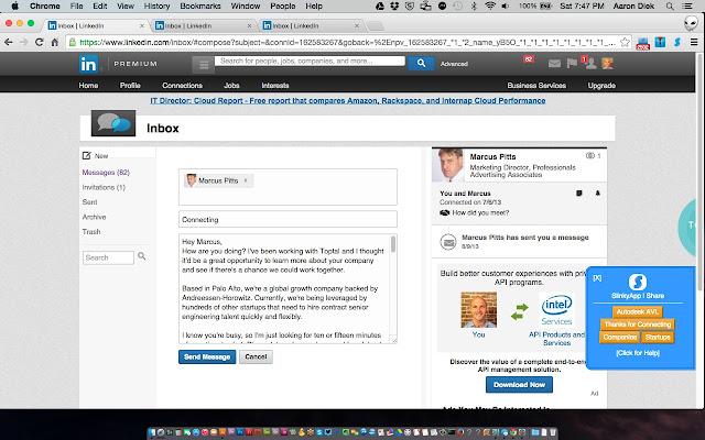 SlinkyApp - Templates for LinkedIn - Chrome Web Store