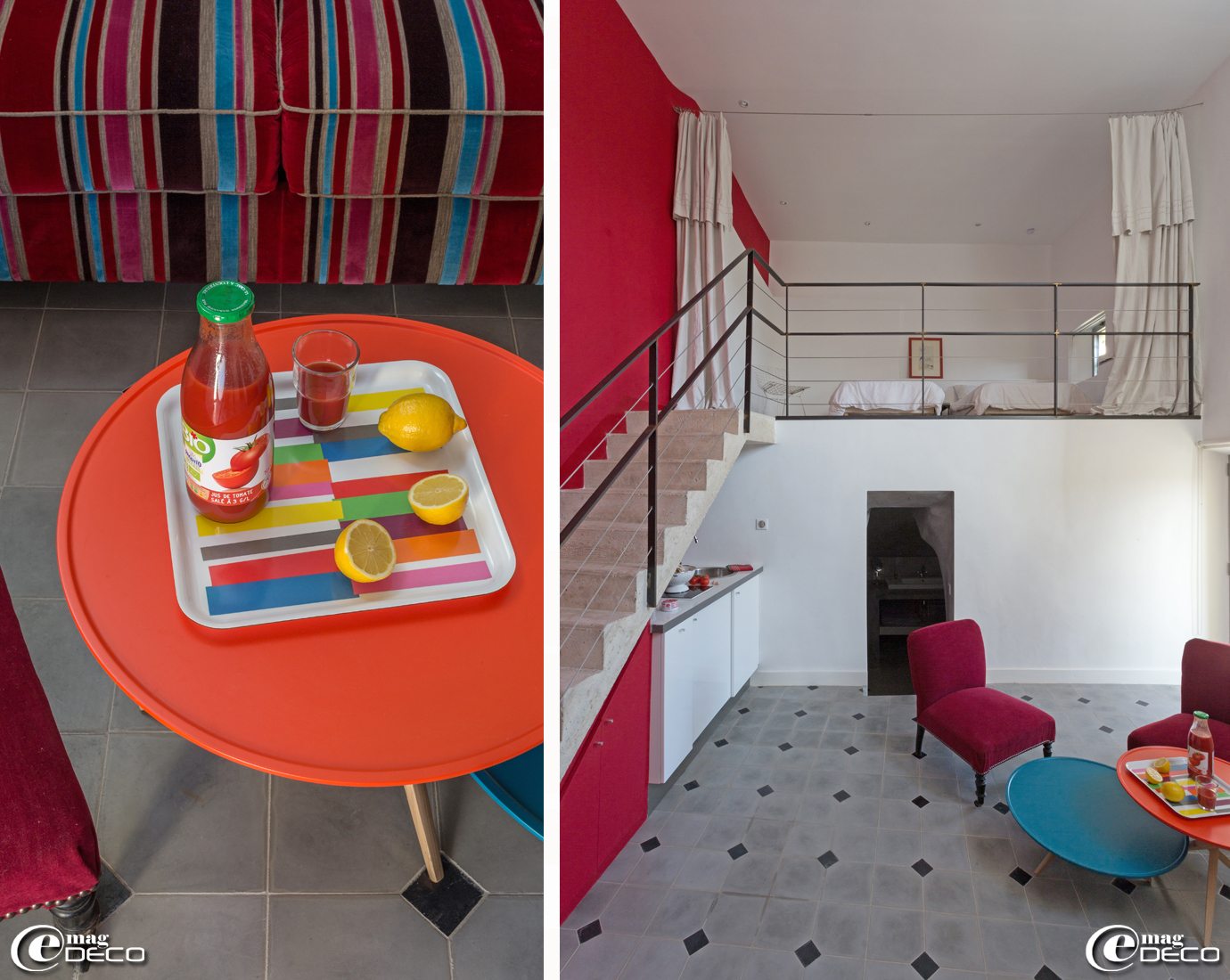 Table basse 'Arflex' en marbre des années 1950, achetée dans la 'Galerie Collection of Design' à Lyon, entourée de fauteuils inspirés du célèbre fauteuil 'Ours polaire' du designer Jean Royère