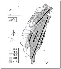 臺灣地形分布圖_淡黑白_無字_山線
