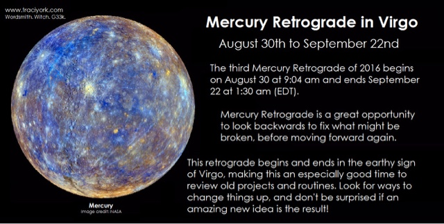 Enchanting Babble: What does Mercury Retrograde Mean 2016?