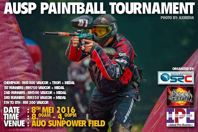 Pertandingan Paintball AuoSunpower 2016