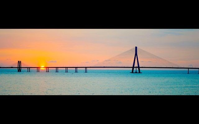 Bandra worli sea link sunset