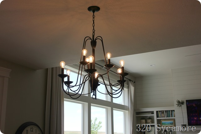 light bulbs edison style chandelier
