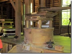 Grinding corn inside Mingus Mill