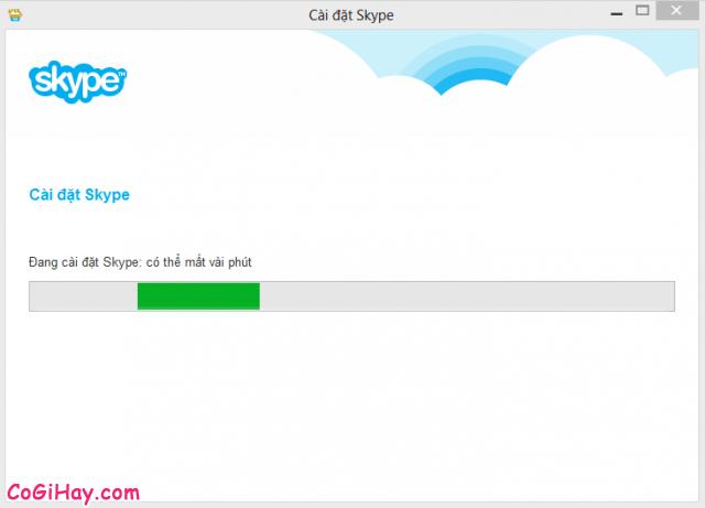 Skype đang được cài đặt