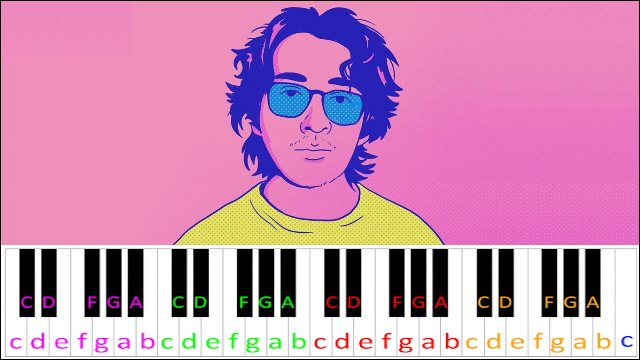 Lo Que Siento by Cuco ~ Piano Letter Notes