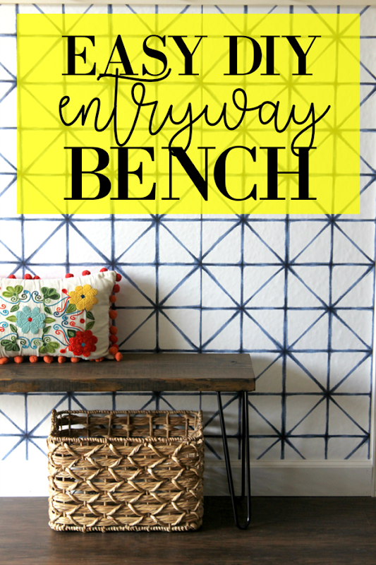 easy DIY entryway bench tutorial