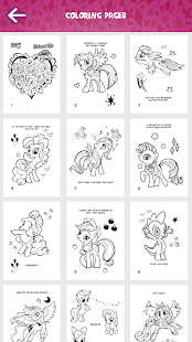 my little pony coloring book screenshot thumbnail