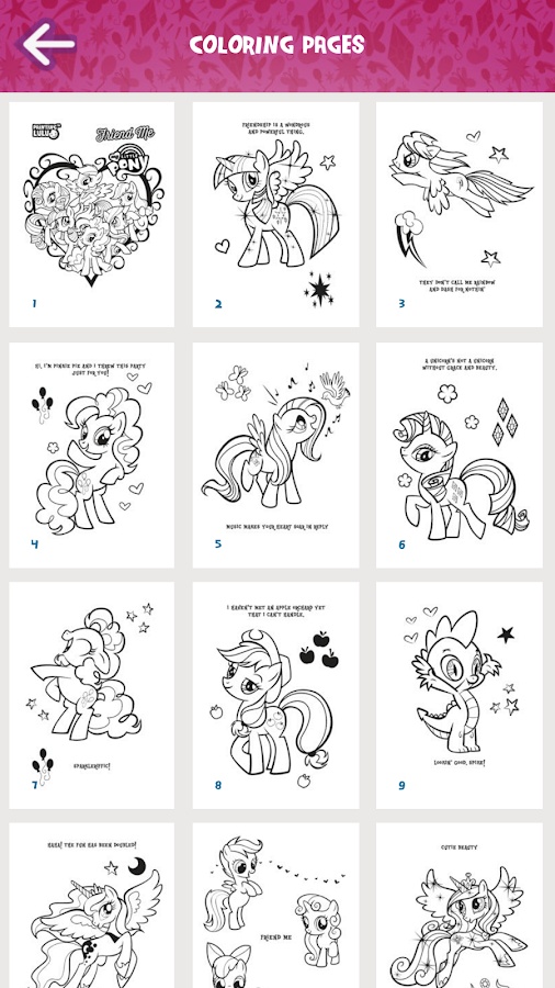 My Little Pony Coloring Book Screenshot