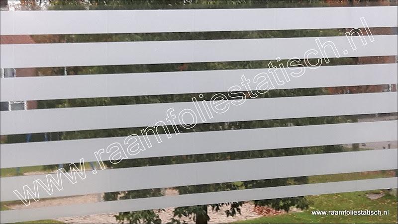 Raamfolie strepen 45cm raamfoliestatisch for Plakfolie decoratie