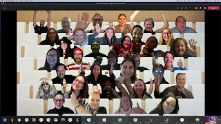 About 40 educators in Microsoft Teams together mode.