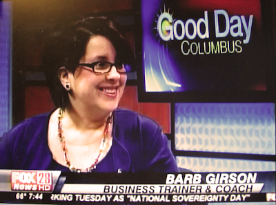 Barb Girson, International Direct Sales Expert, Trainer and Coach Fox News 28, Columbus OH www.MySalesTactics.com