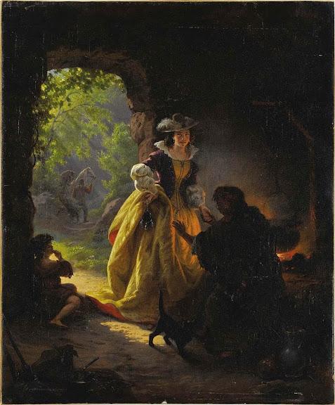 Daniel Maclise - Gypsy Fortune Teller (1836)