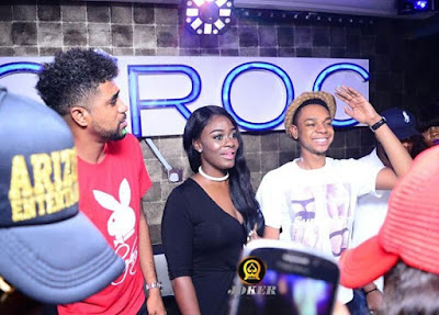 #BBNaija: TTT, Miyonse & Uriel Shut Down Club in Benin  (Photos)