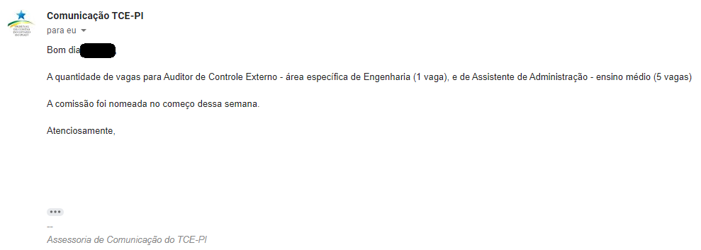 Concurso TCE PI: Exclusiva! Cargos e vagas!