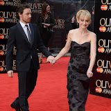 OIC - ENTSIMAGES.COM -  Anne-Marie Duff and James McAvoy  at the The Olivier Awards in London 12th April 2015  Photo Mobis Photos/OIC 0203 174 1069