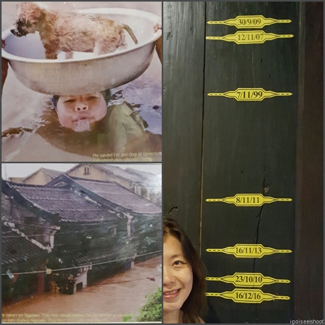 House of Tan Ky  - Photos of flooded Hoi An and flood water level over the past years.