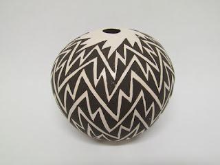 Dolores Lewis Acoma Pottery Bud Vase