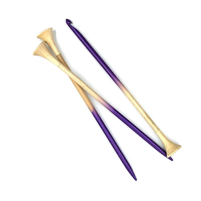 Ombre knitting needles and a crochet hook Bundle