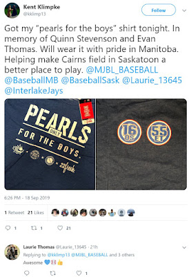 The Manitoba Interlake team that was at 21U Westerns bought some Pearls.  Thanks for supporting our cause!