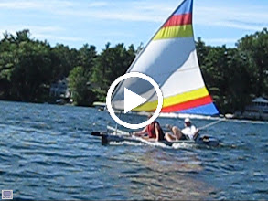 Video: Sea Eagle Razorlite kayak with SailboatsToGo.com sail kit.