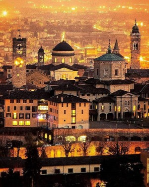 Bergamo by night