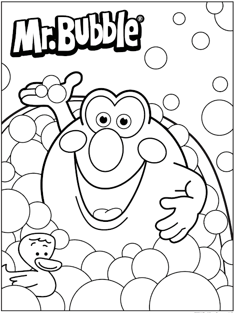 Mr Bubble Coloring Page