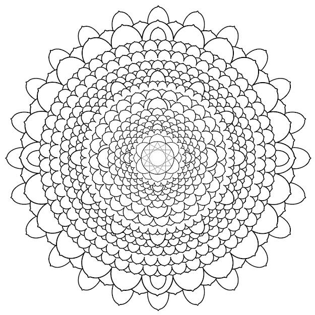 Chakra Coloring Pages Coloring Mandala