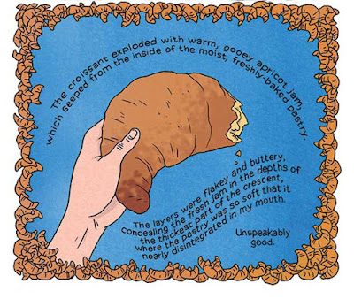 Lucy Knisley illustration of a croissant from Relish: My Life In The Kitchen