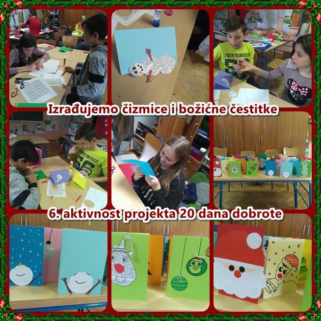 božićne čestitke ppt 6. aktivnost 20 dana dobrote   Izrađujemo čizmice i božićne  božićne čestitke ppt