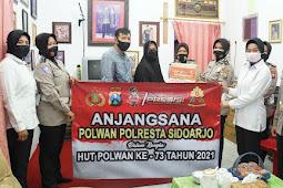 Sambut HUT Polwan Ke-73, Polwan Polresta Sidoarjo Anjangsana ke Purnawirawan