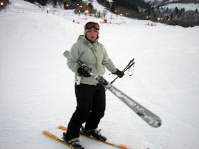Anners with one of my skiis. I shall not relate how it came detached from my boot.
