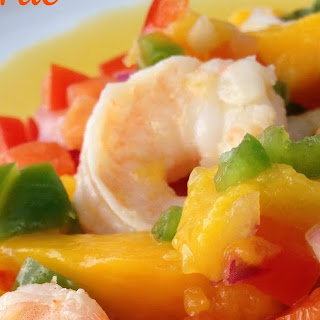 Lime-Garlic Shrimp with Mango-Mint Salsa