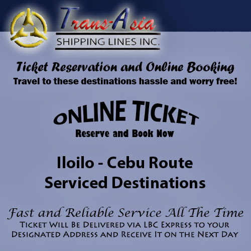 Trans-Asia Shipping Iloilo-Cebu Route Ticket Reservation and Online Booking