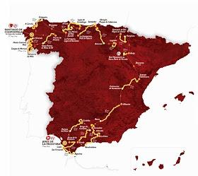 Recorrido de La Vuelta 2014, con final en Santiago de Compostela
